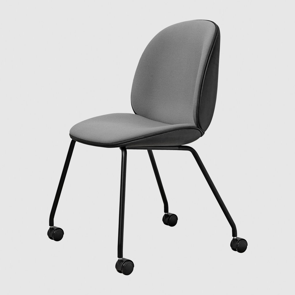 Beetle Meeting Chair - Fully Upholstered - 4 Legs W/ Castors