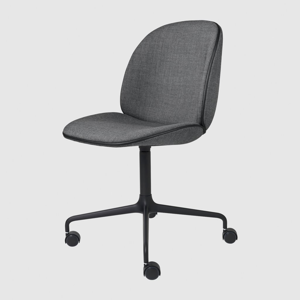 Beetle Meeting Chair - Fully Upholstered - 4-Star Base W/ Castors