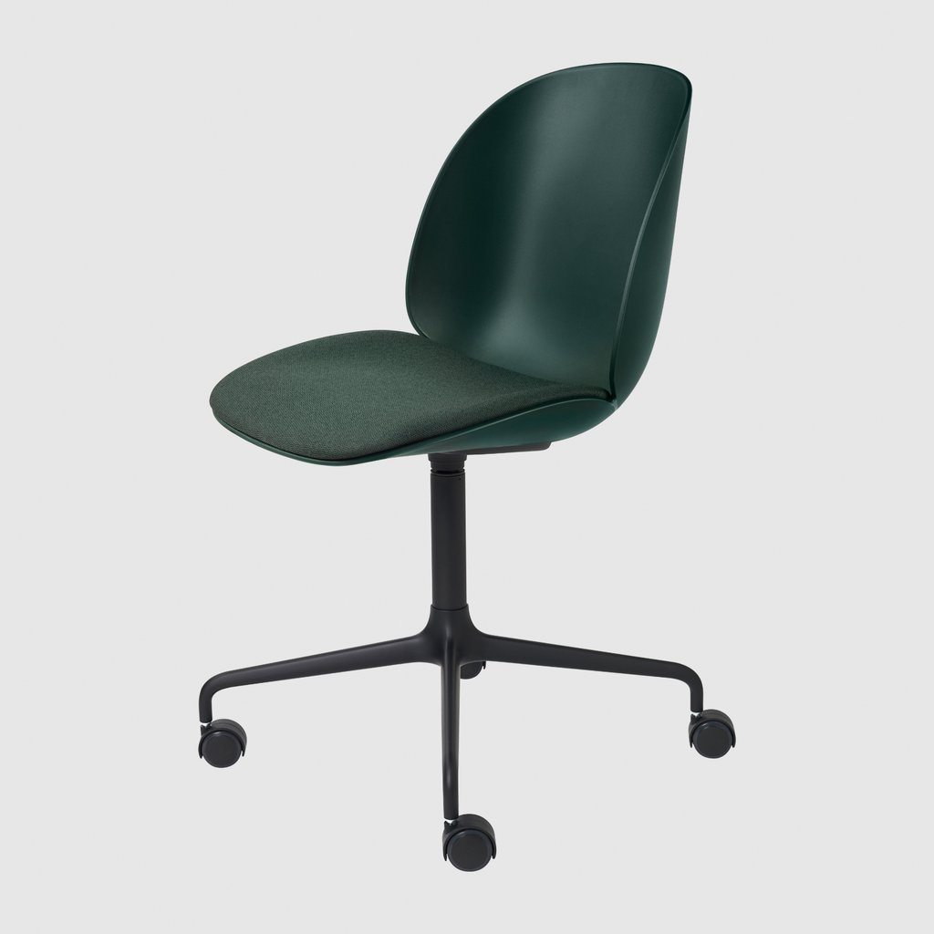 Beetle Meeting Chair - Seat Upholstered - 4-Star Base W/ Castors