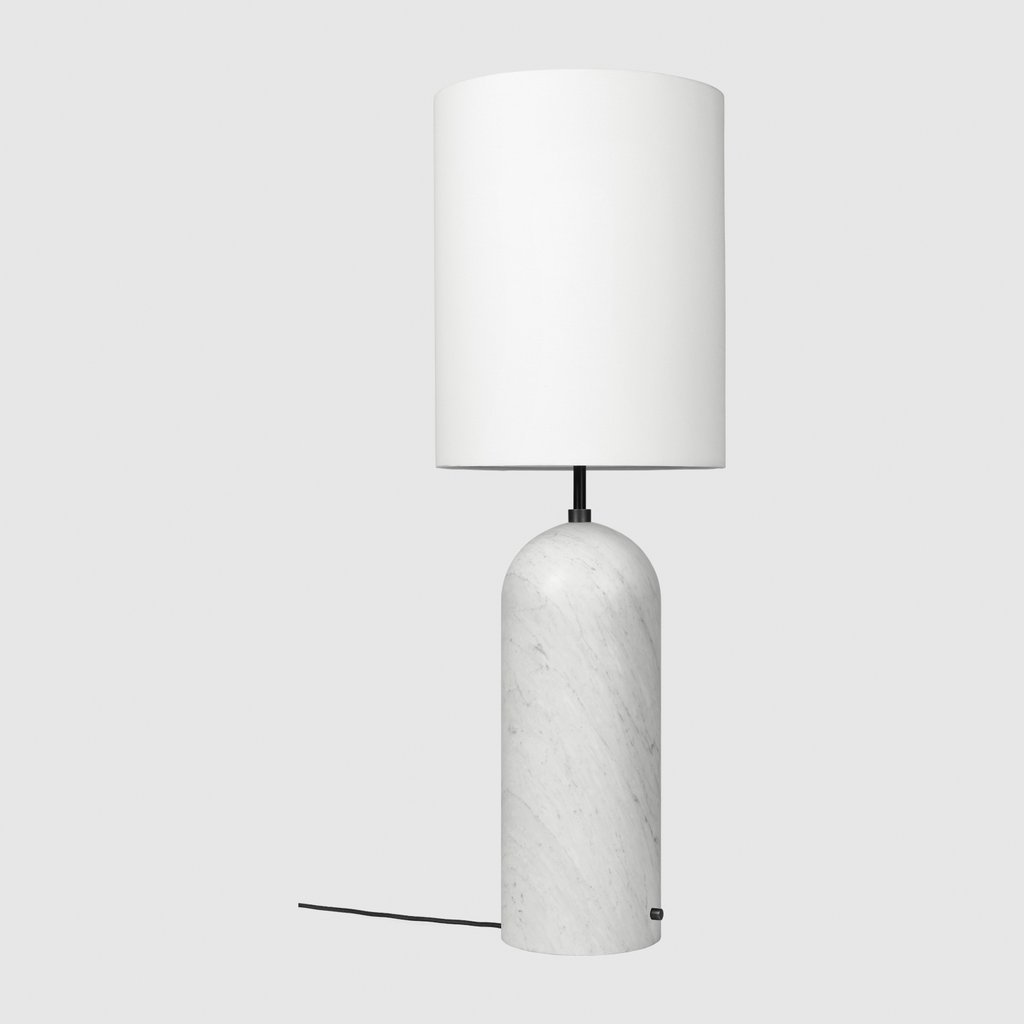 Gravity Floor Lamp White Marble base