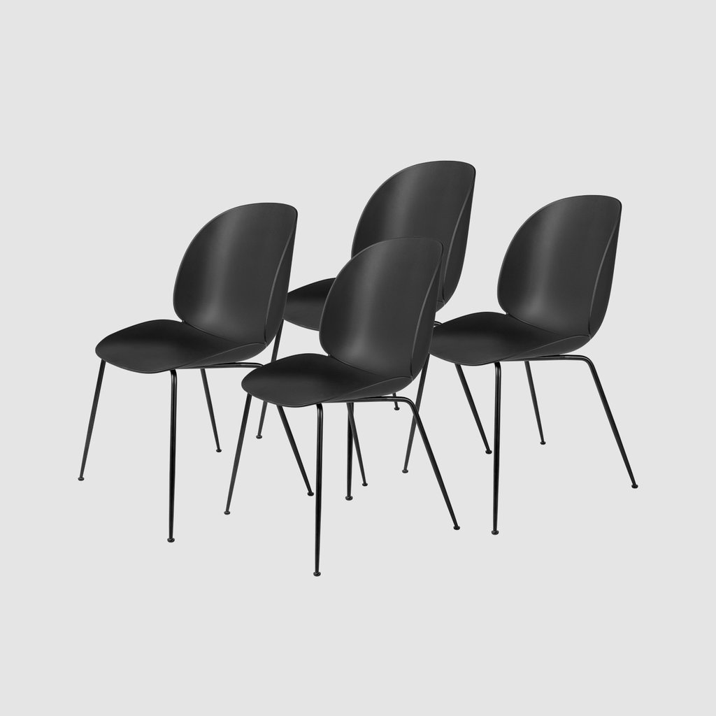 Beetle Dining Chair - Un-upholstered - Conic base - Colli of 4